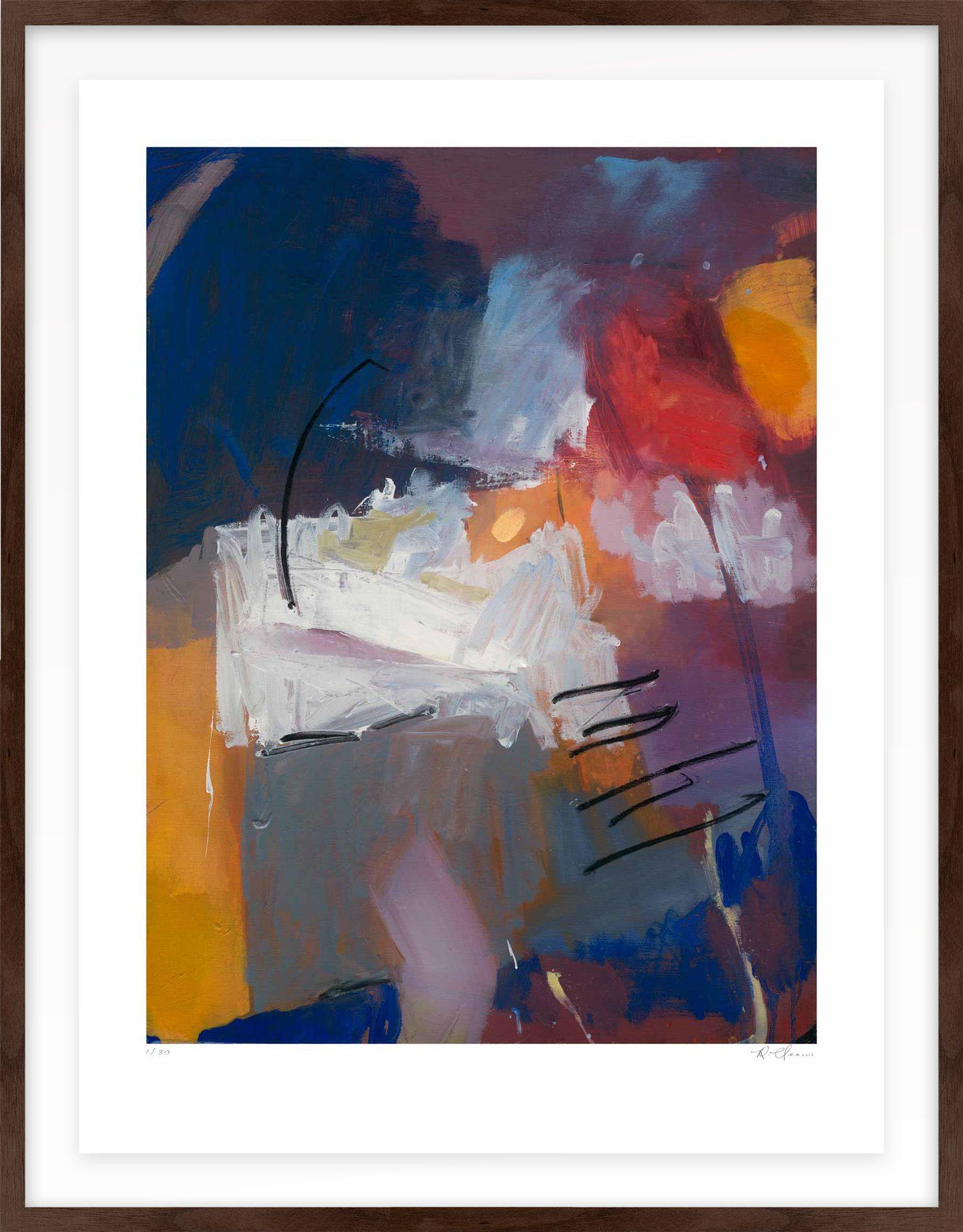 Hang Tough 'Churn' Float Framed in Walnut with Dye & Oil (Framing Only)