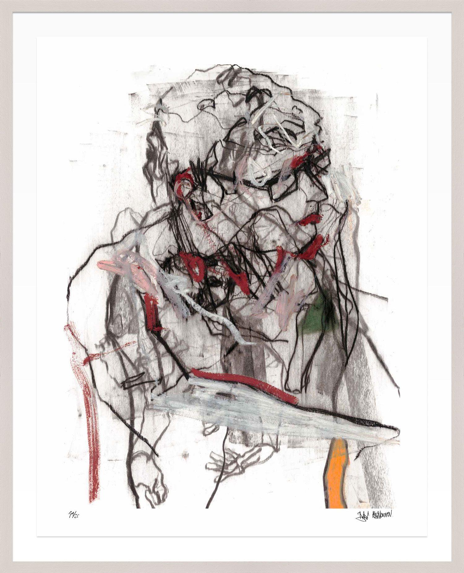 Hang Tough 'Falling Man' Float Framed in Limed (Framing Only)