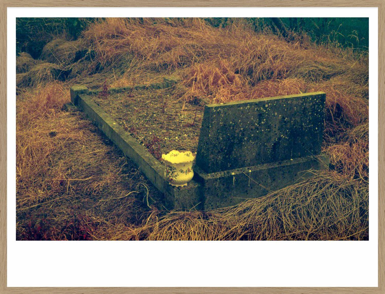Hang Tough 'Grave' Slip Mounted and Framed in Oak (Framing Only)