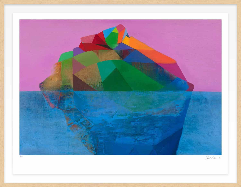 Hang Tough 'Light Buoy' Float Framed in Ayous (Framing Only)