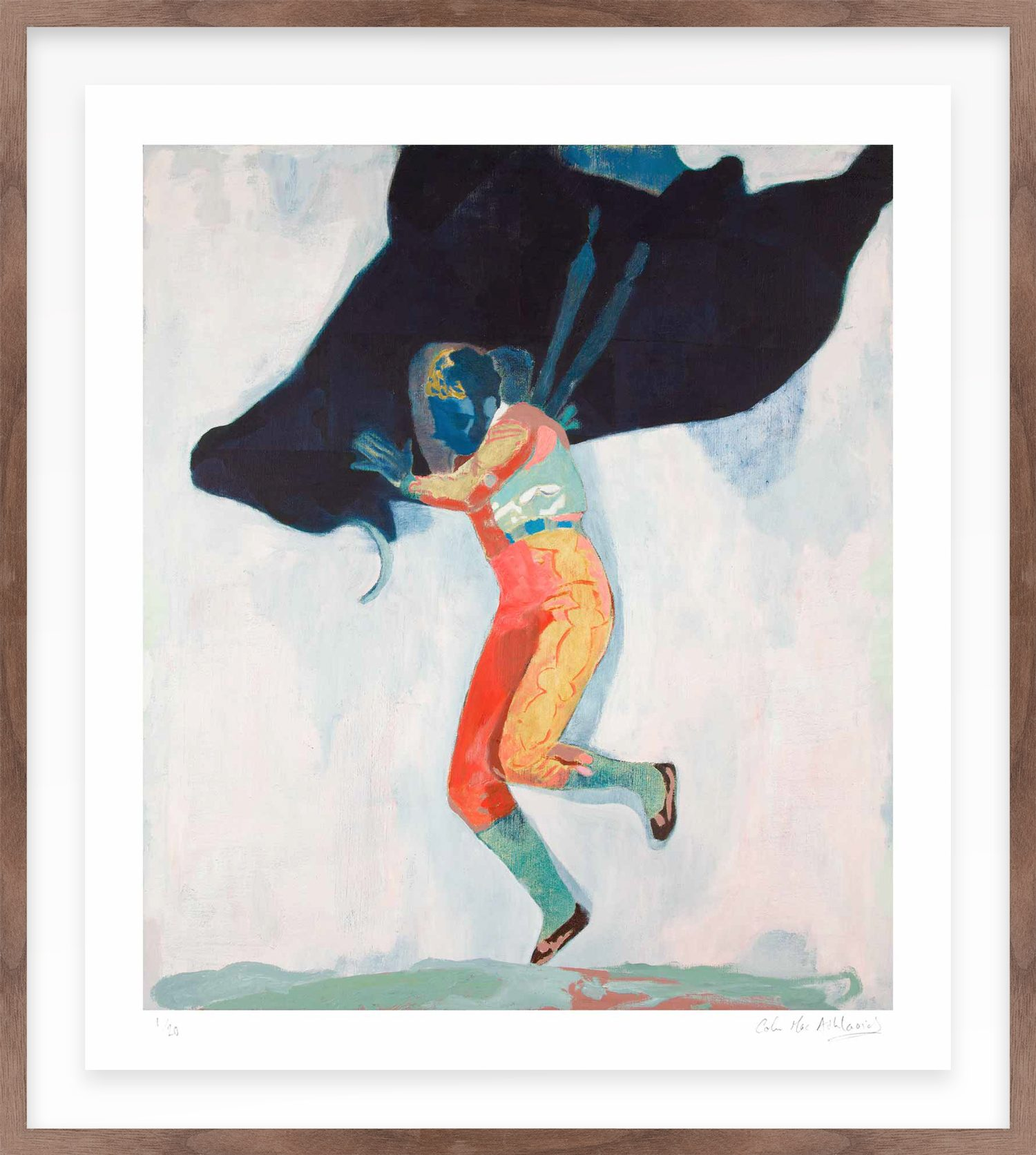 Hang Tough 'Padilla Y La Torro' Float Framed in Walnut (Framing Only)