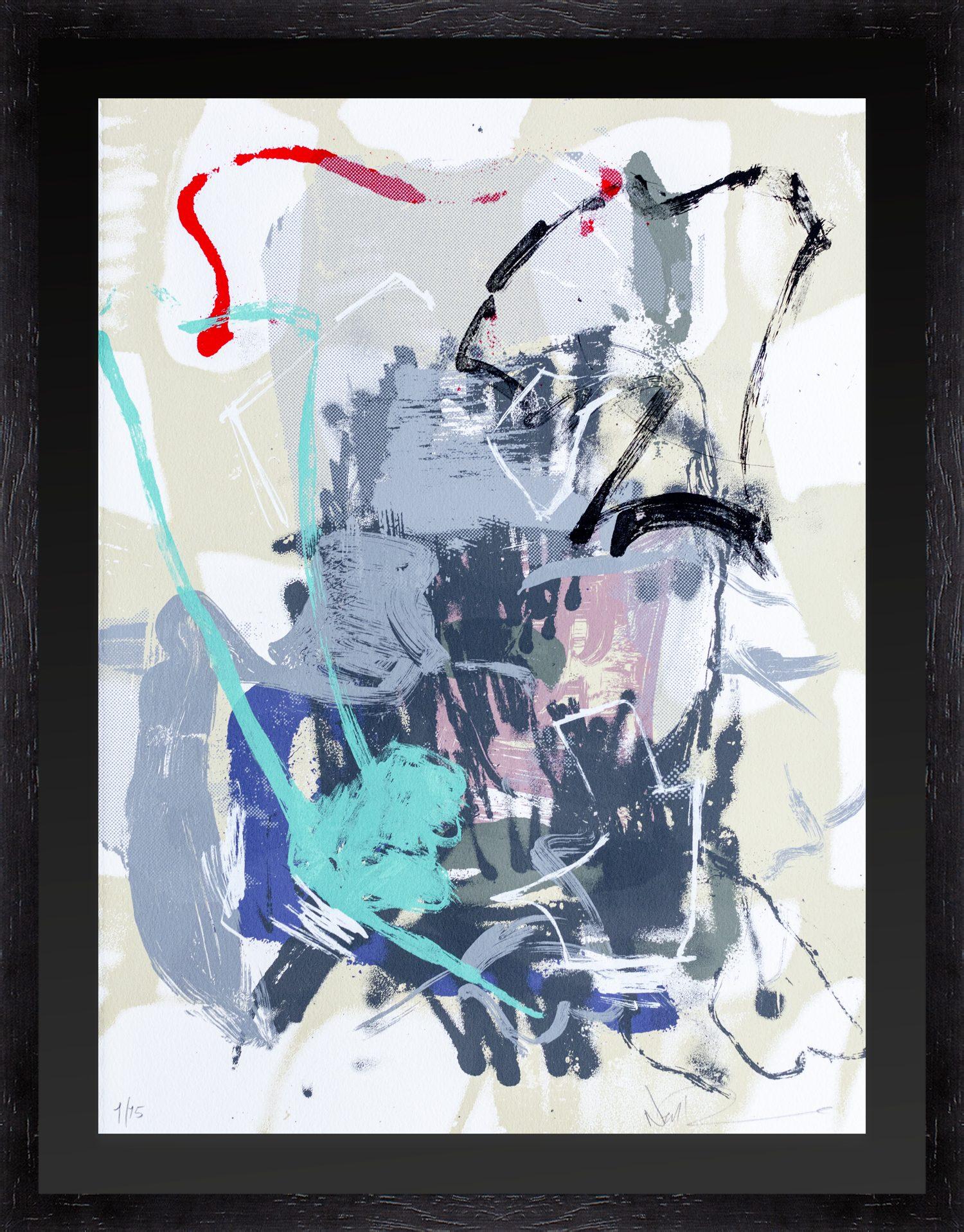 Hang Tough 'The Absurd Place' Float Framed Black on Black (Framing Only)