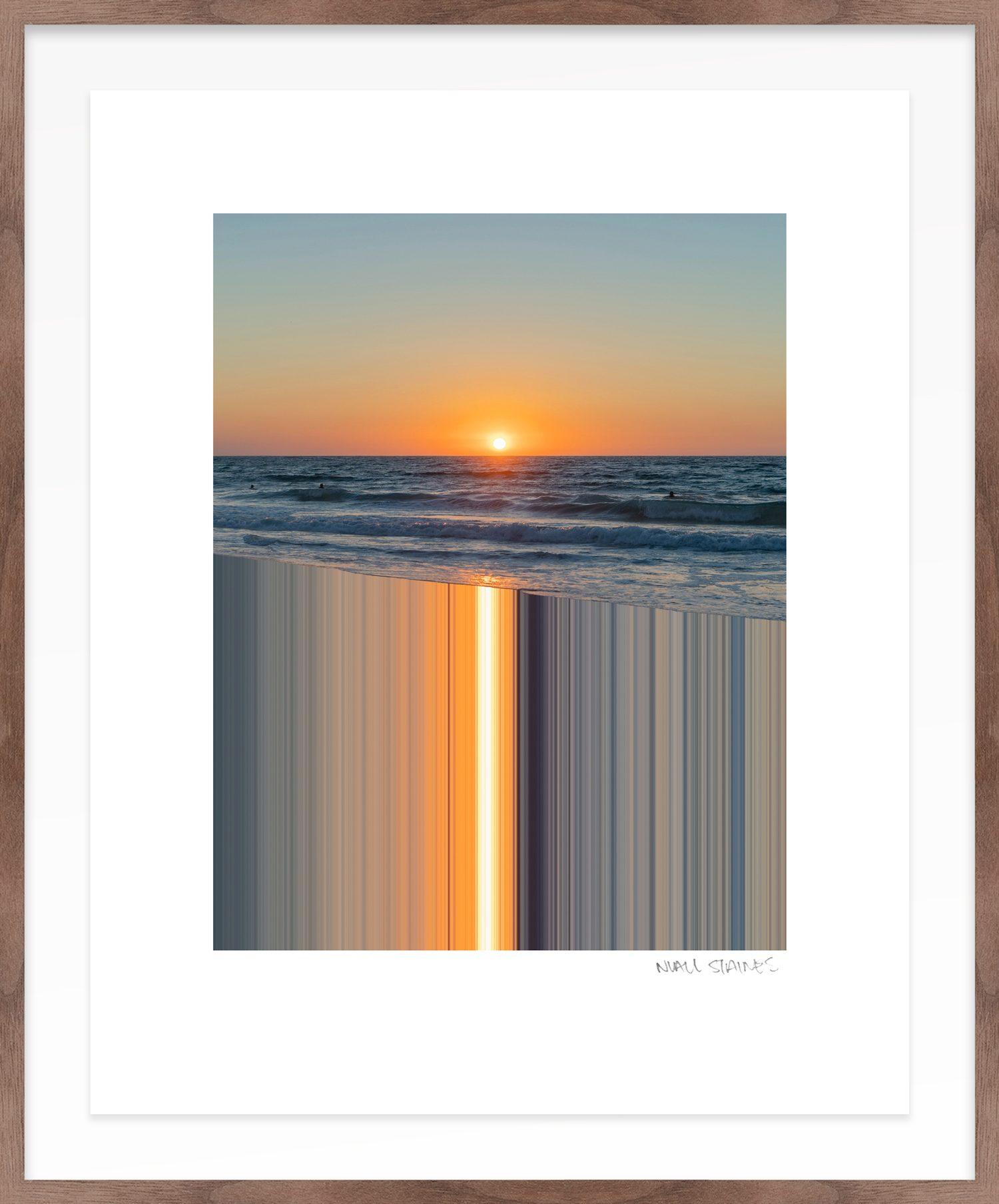Hang Tough 'Sunset' Float Framed in Walnut (Framing Only)