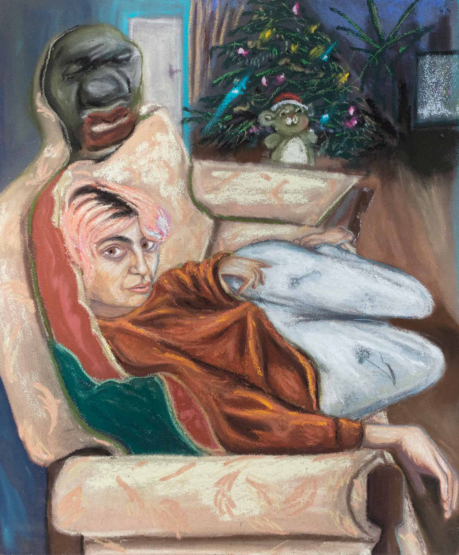 LIL' SISTER AT CHRISTMAS WITH PAULA REGO'S PILLOW MAN
