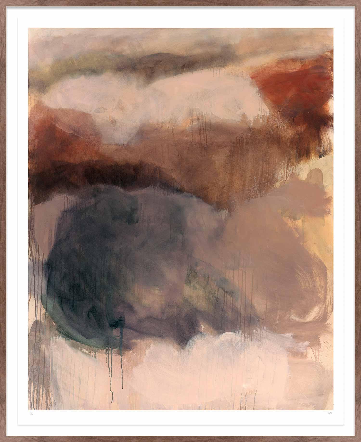 Hang Tough 'Rosy Retrospection' Float Framed in Hardwood Walnut (Framing Only)