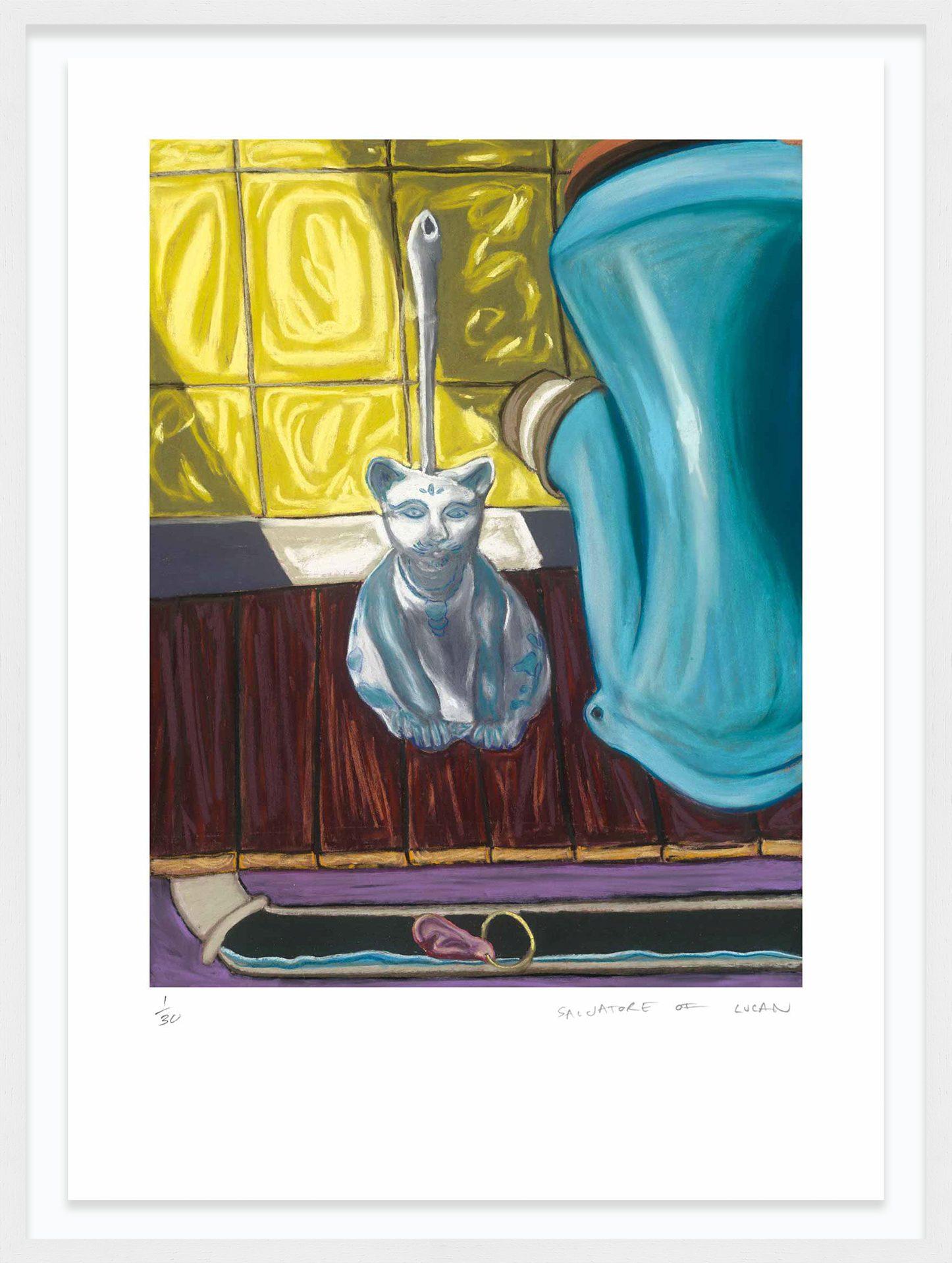 Hang Tough 'Lost Earring' Float Framed in White (Framing Only)