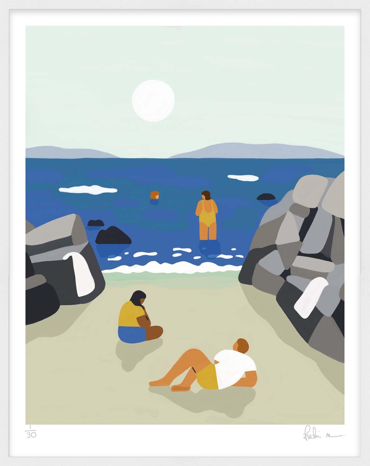 Hang Tough 'Connemara' Slip Mounted in White (Framing Only)