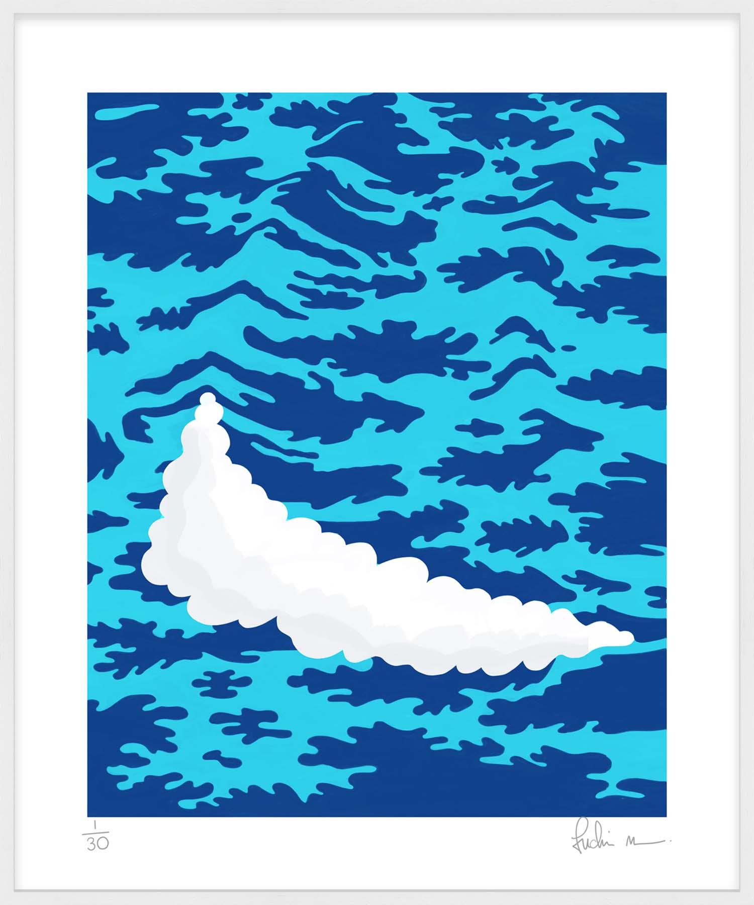 Hang Tough 'High Tide' Slip Mounted in White (Framing Only)