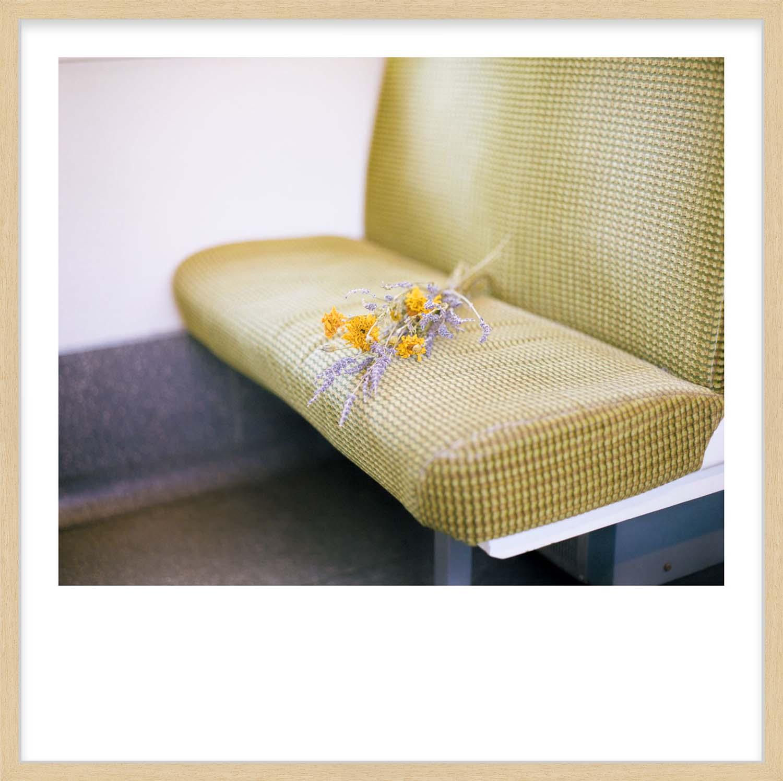Hang Tough 'Dart Flowers' Slip Mounted in Raw Ayous (Framing Only)