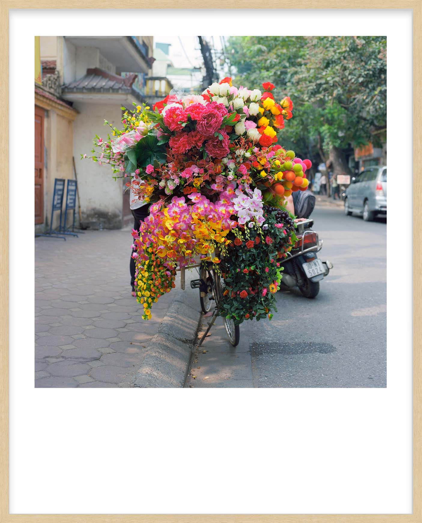 Hang Tough 'Hanoi' Slip Mounted in Raw Ayous (Framing Only)