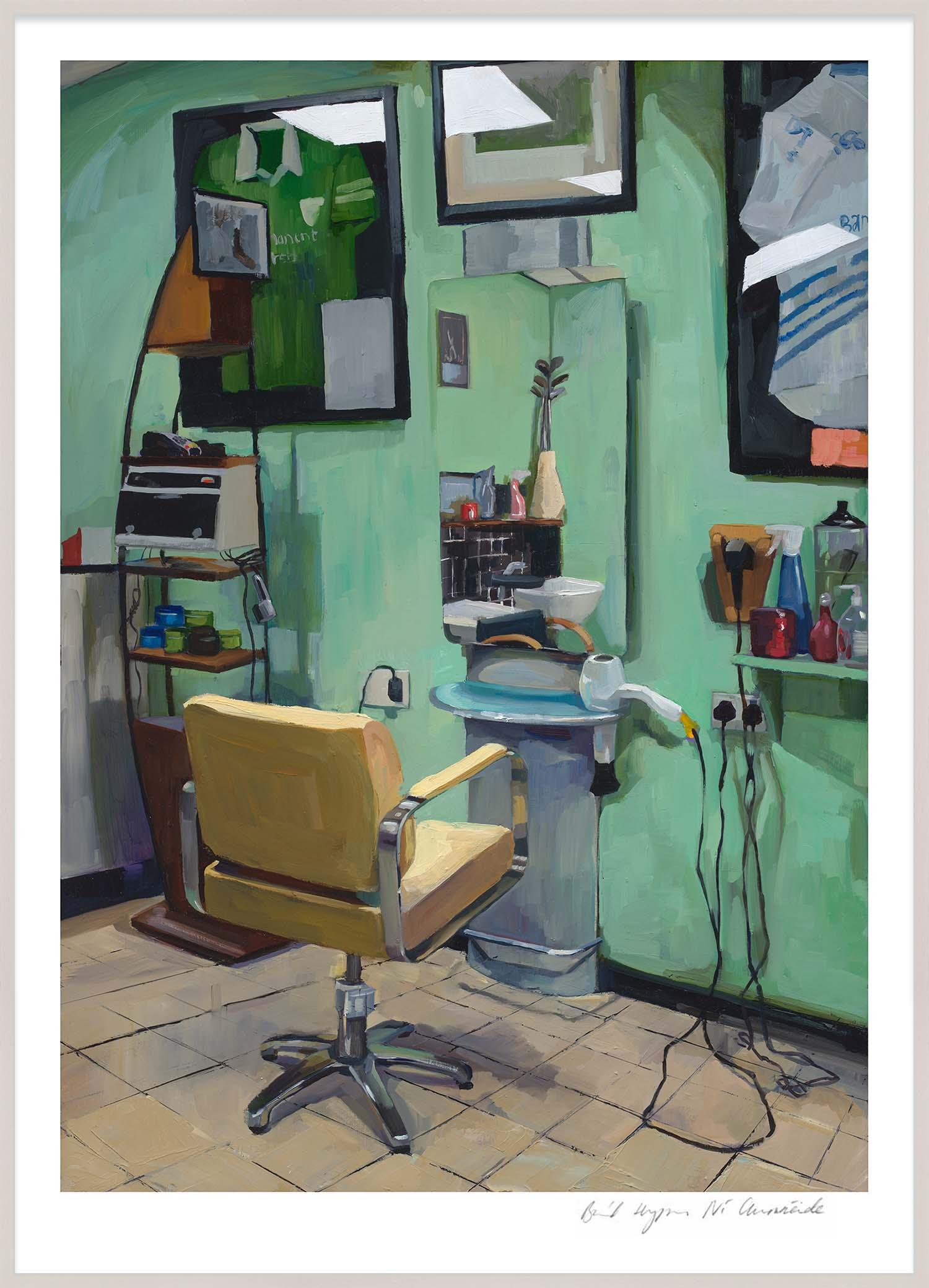 Hang Tough 'Barber Shop' Slip Mounted in Limed Ayous (Framing Only)