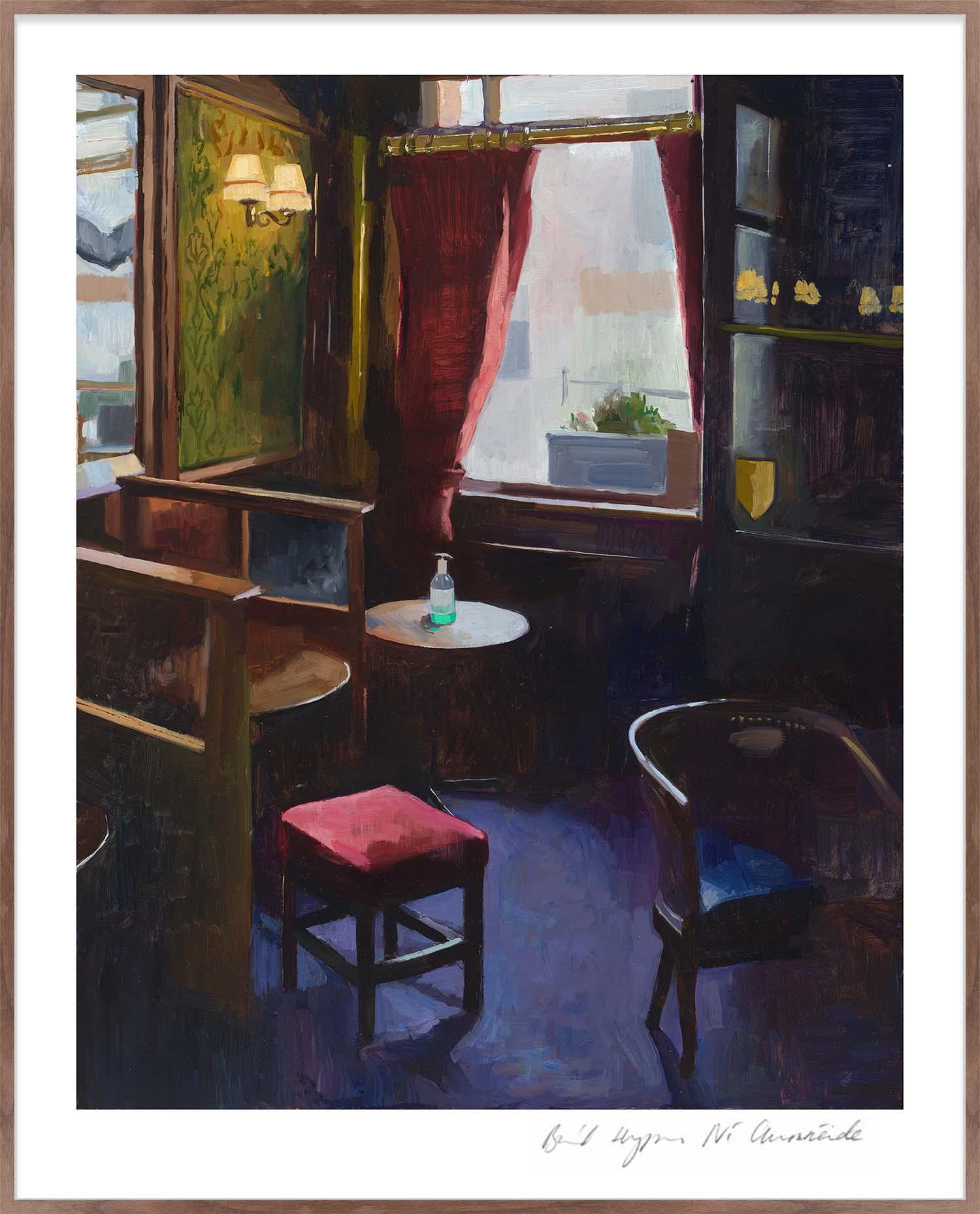Hang Tough 'Pub Window' Slip Mounted in Walnut (Framing Only)